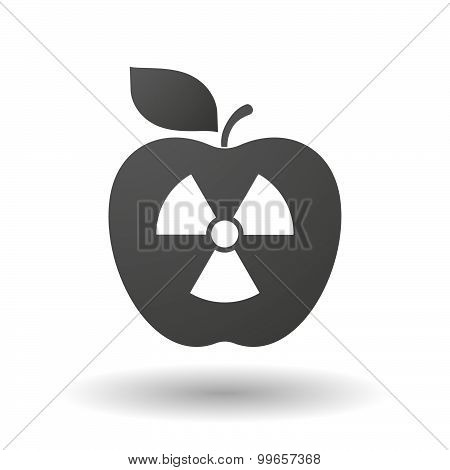 Apple Icon With A Radio Activity Sign