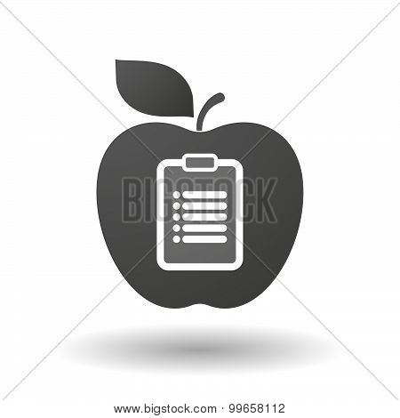 Apple Icon With A Report