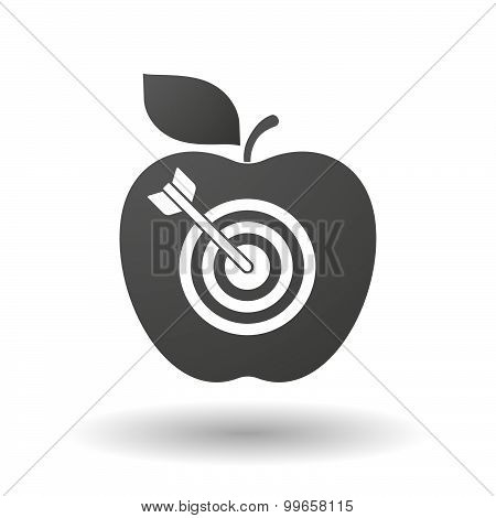 Apple Icon With A Dart Board