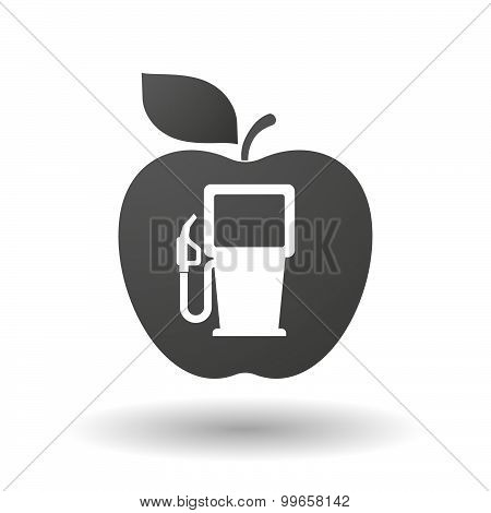 Apple Icon With A Gas Station