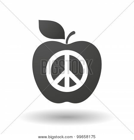 Apple Icon With A Peace Sign