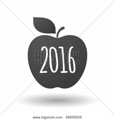 Apple Icon With A 2016 Sign
