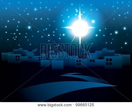 Bethlehem Christmas Star Illustration