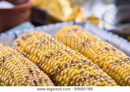 Homemade Roasted Whole Corn Cob