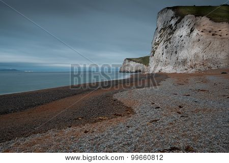 Beach In Jurassic Coast In Dorset, Uk