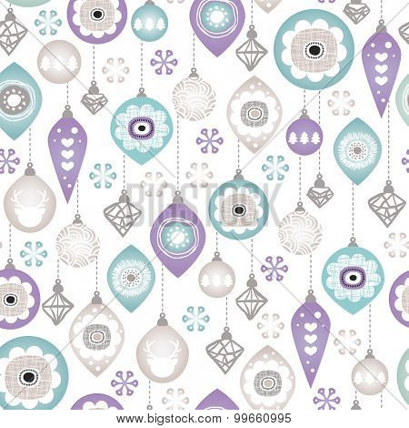 Seamless christmas jingle bells holiday ornaments illustration background pattern in vector