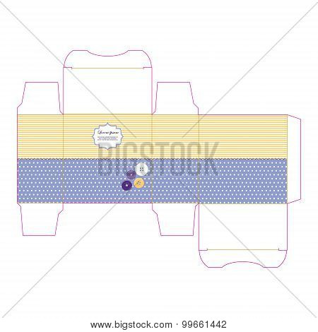 Gift box template isolated on white