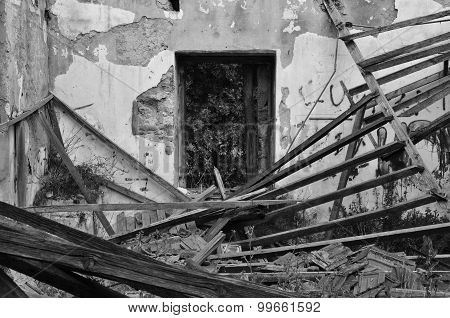 Collapsed House Abandoned Interior