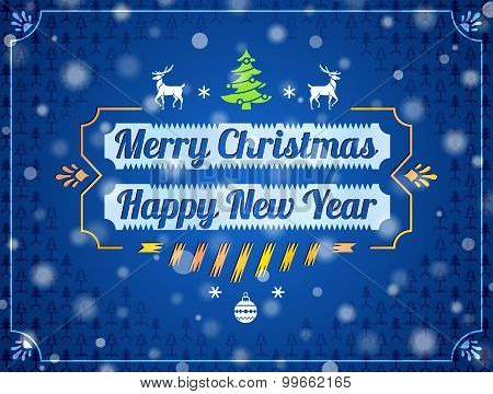 Christmas Greeting Card With Snowfall Effect