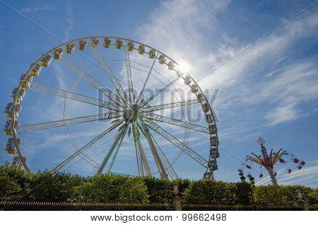 Ferris wheel at Tuilerie Gardens in Paris
