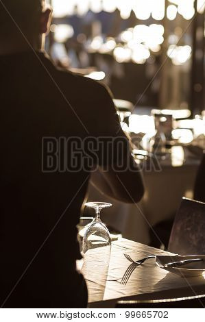 Waiter Serve and Setting Wedding Banquet Tables