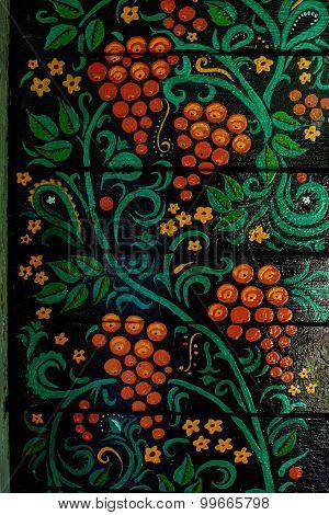 Khokhloma painting house national paint beautiful handmade folk art ethnic rukodelenie