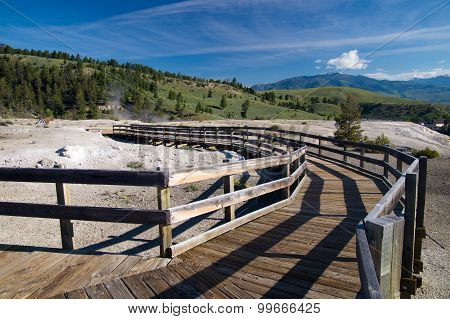 Boardwalks Of Yellowstone Park