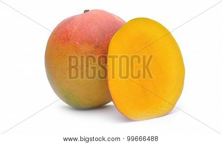 Mango Fruit On White Background
