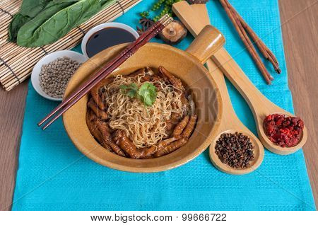 Braised Goose Feet With Egg Noodle Menu
