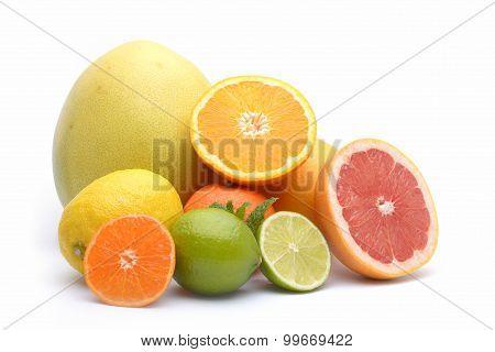 Citrus On White Background