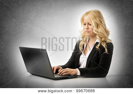 Angry Woman Working