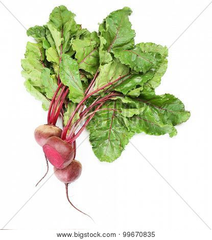 Fresh beet isolated on white