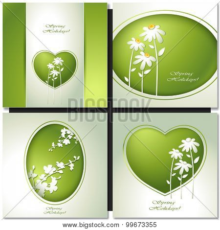 Spring flower background for design invitations, greeting card