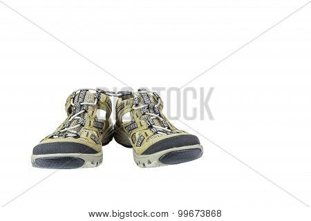 Isolated Sport Sandals On White