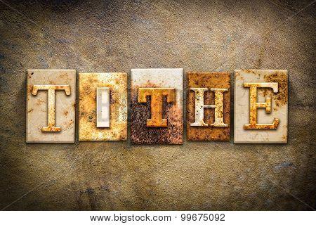 Tithe Concept Letterpress Leather Theme
