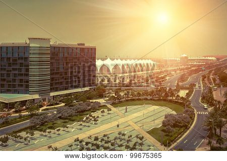 Beautifull view on Abu Dhabi.