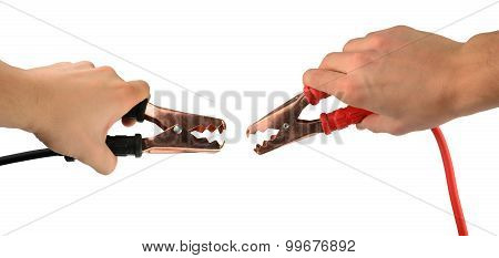 Jumper Cable Isolated On White Background