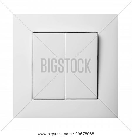 Light Switch Isolated On White Background