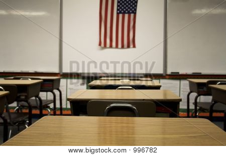 Classroom With Flag
