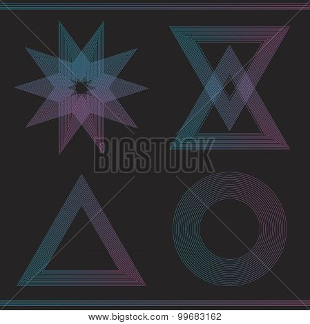 Set Of Geometric Color Hipster Shapes55465