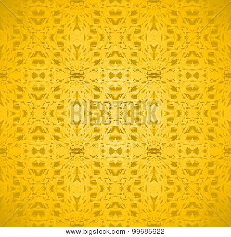 Seamless pattern golden yellow