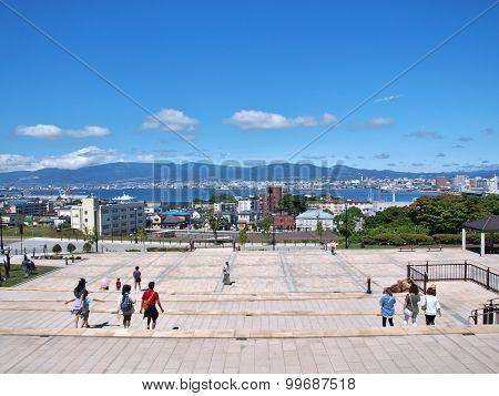 viewpoint at Motomachi in Hakodate, Hokkaido, Japan.