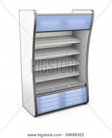 Refrigerator Shop With Blue Backlight