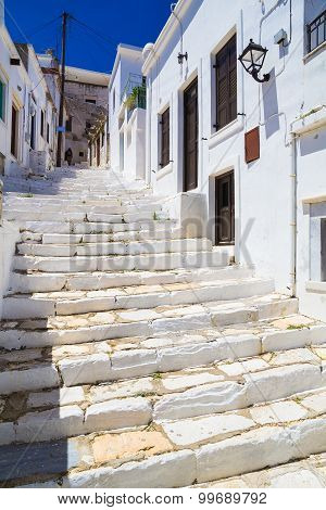Apiranthos Village, Naxos Island, Cyclades, Aegean, Greece