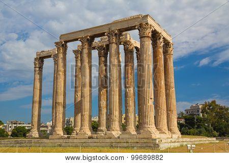 Ancient Zeus Olympian Temple, Athens, Europe