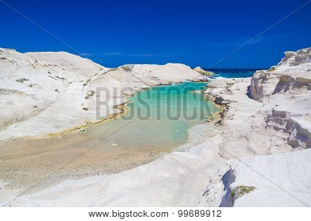 Sarakiniko Beach, Milos Island, Greek Cyclades, Aegean, Greece, Europe