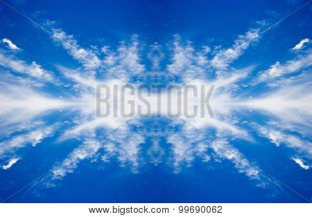 Beautyful Clouds On Clear Sky