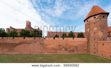 Castle  in Malbork, Poland. Teutonic Knights' fortress.