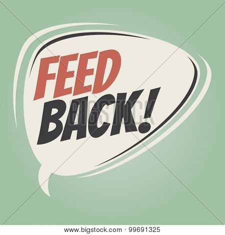 feedback retro speech bubble