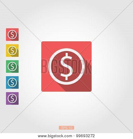 Square icon dollar sign