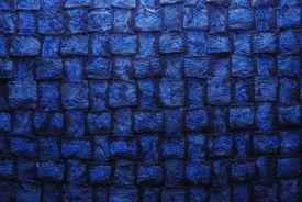stock photo of scrappy  - original texture of a handmade woven runner - JPG