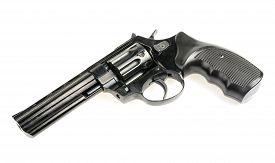 stock photo of revolver  - revolver isolated on white background - JPG