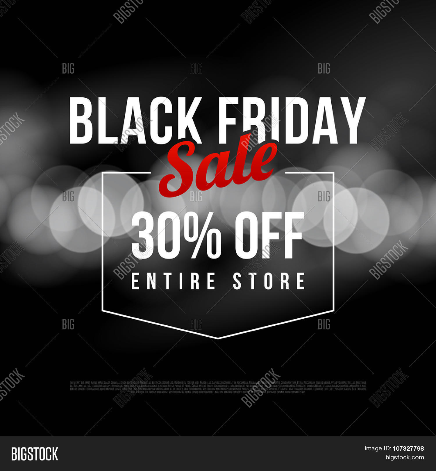 black friday sale ad template vector photo bigstock. Black Bedroom Furniture Sets. Home Design Ideas