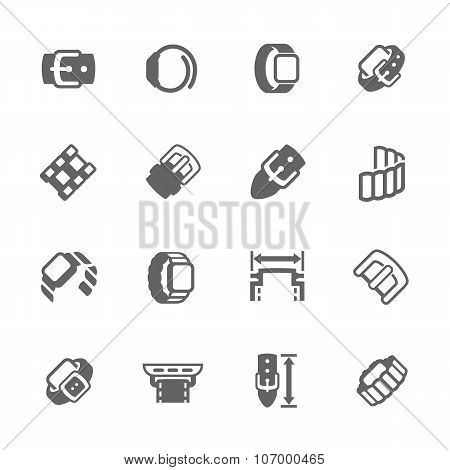 Simple Watch Band Icons