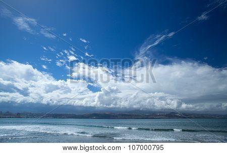 Gran Canaria, El Confital Beach On The Edge Of Las Palmas
