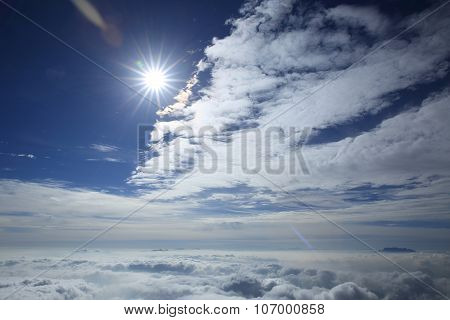 beautiful rolling clouds and sunset sky landscape