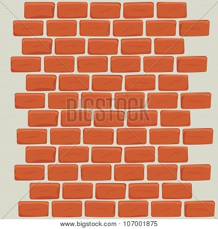 Brick wall design.
