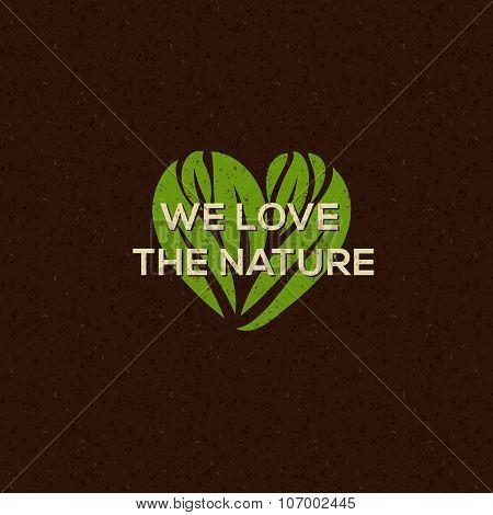 Organic food logo, emblem for natural food, drink