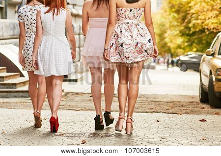 Women Going Long Legs