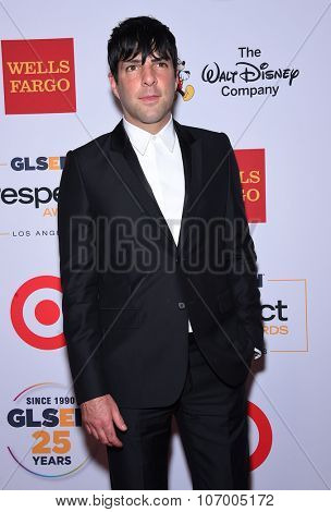 LOS ANGELES - OCT 23:  Zachary Quinto arrives to the GLSEN Awards 2015 on October 23, 2015 in Hollywood, CA.